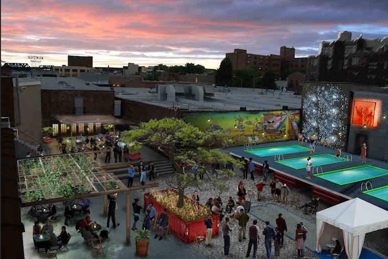 Flores en el tico new york sue a con piscinas para su - Lapuente exteriorismo ...